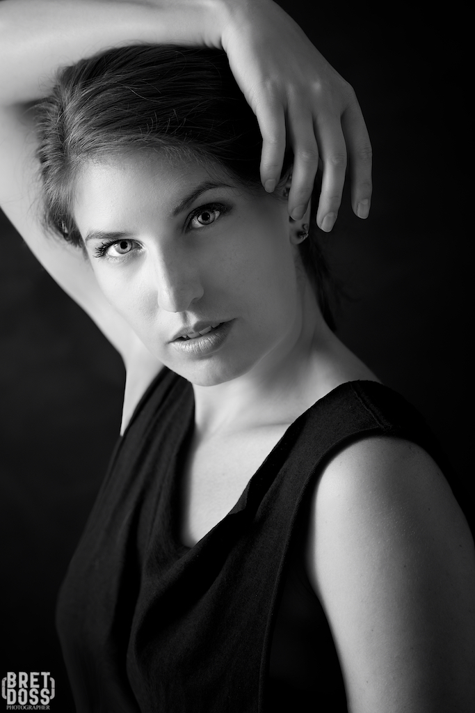 Mickella in Black BW © Bret Doss 2015 006