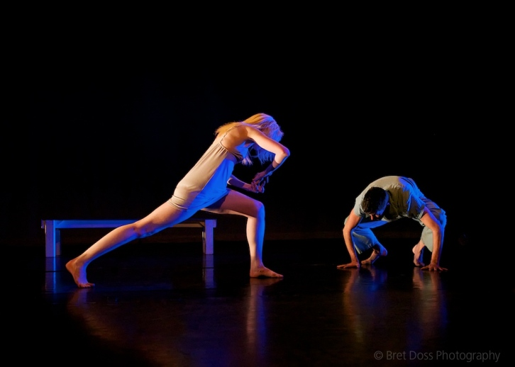 Leap part 1: Joel Myers & Christin Call in 'try to hover' choreographed by Christin Call, image © Bret Doss