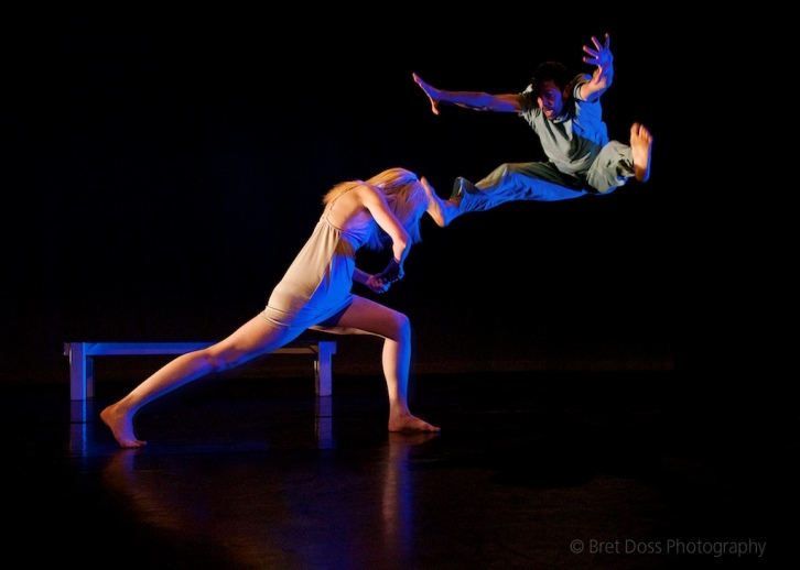 Leap part 2: Joel Myers & Christin Call in 'try to hover' choreographed by Christin Call, image © Bret Doss