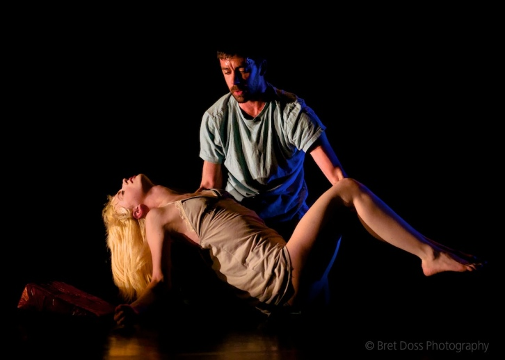 Joel Myers & Christin Call in 'try to hover' choreographed by Christin Call, image © Bret Doss