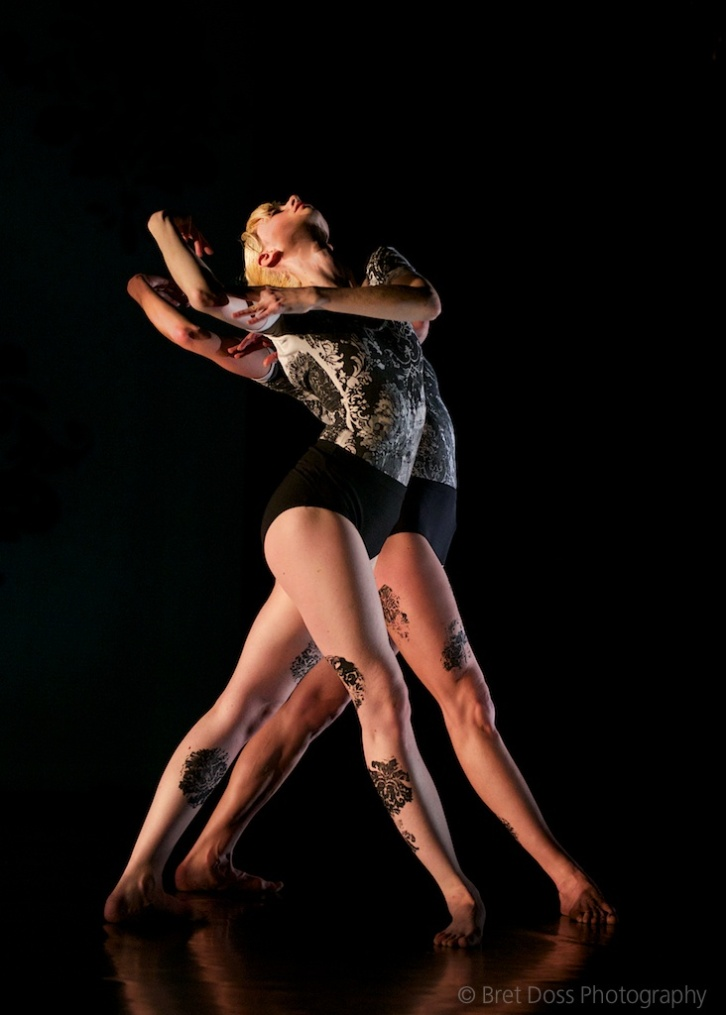 Christin Call & Marissa Quimby in 'when we were young II' choreographed by Zoe Scofield, costumes by Paul D. McKee, image © Bret Doss